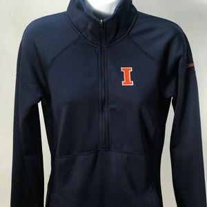 Columbia Women's 1/4 zip pullover fighting Illini